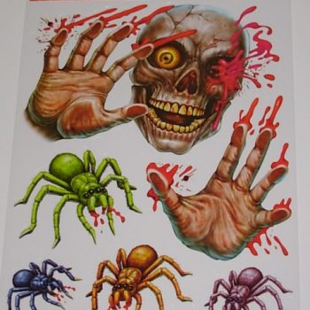Skull & bloody spider stickers