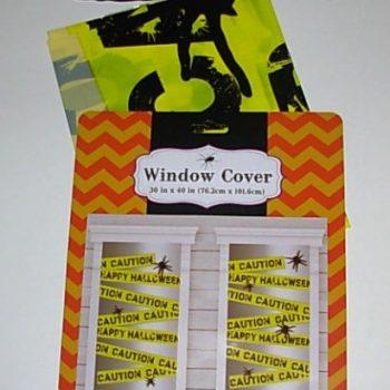 Caution window decoration
