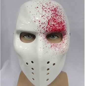 Blood spatter ice hockey mask