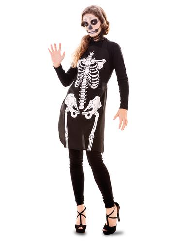 Skeleton print apron
