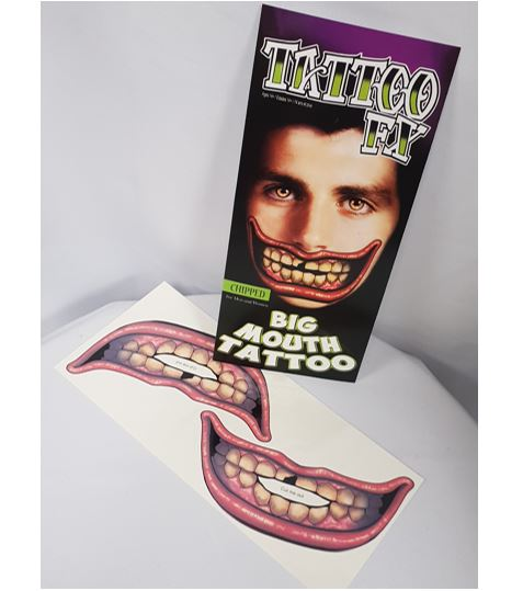 Big mouth tattoo - chipped tooth
