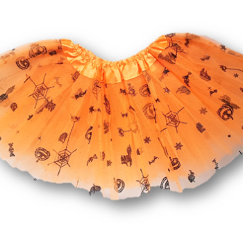 Child orange Halloween tutu