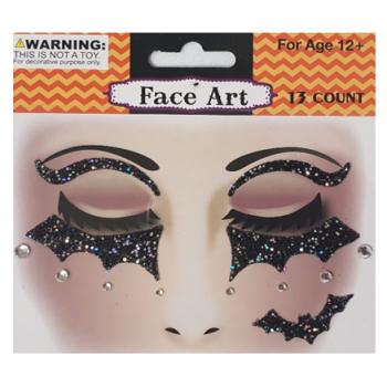 Halloween face stickers bats