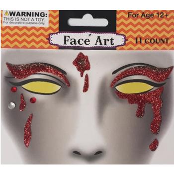 Face art blood drips