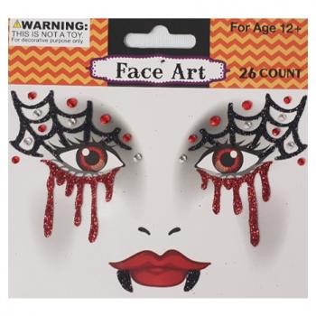 Face art webs & blood drips