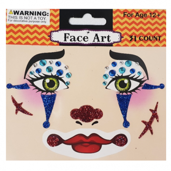 Halloween face art stickers