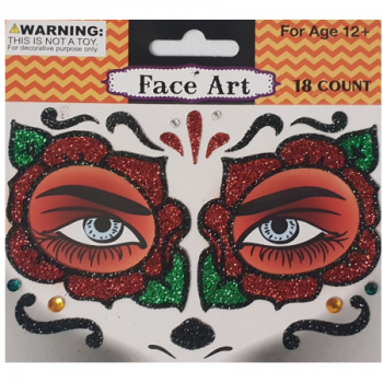 Day of the dead face art stickers