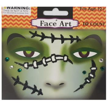 halloween face art stickers