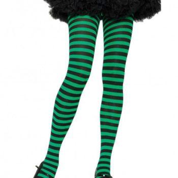 Green & black stripe stockings