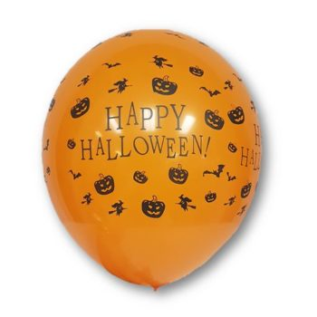 Happy Halloween orange balloons