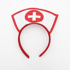 Nurse cap on headband