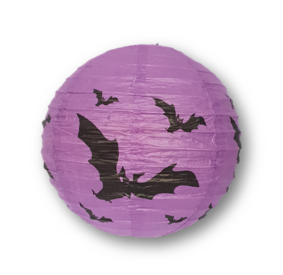 Halloween lantern 20cm purple