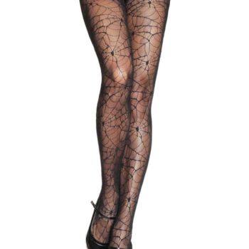 Spiderweb lace design pantyhose