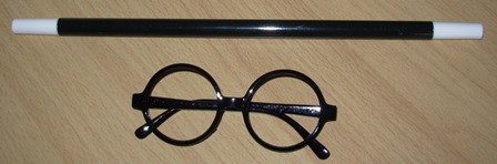Wizard wand & glasses set