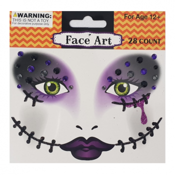 Halloween face stickers