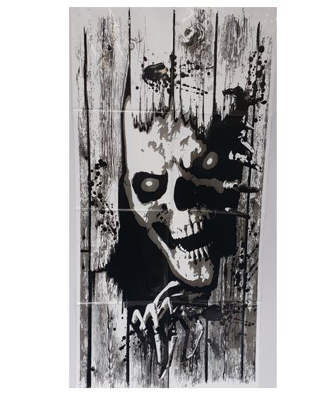 Scary skull halloween decoration