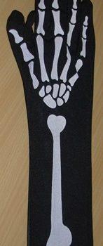 Skeleton bone gloves