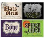 Wine bottle labels Halloween