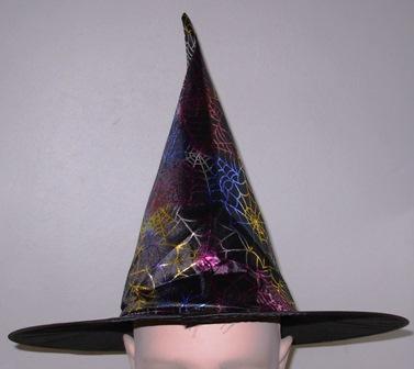 Spider web design witch hat