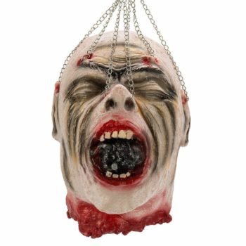 decapitated head on chains