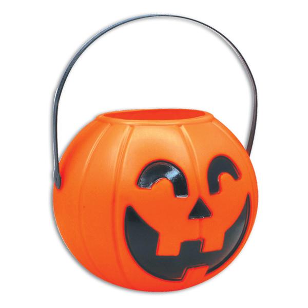 Round pumpkin bucket