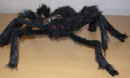 Large black fake spider
