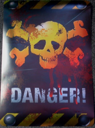 Halloween danger sign