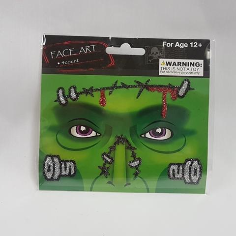 Face art - Frankenstein