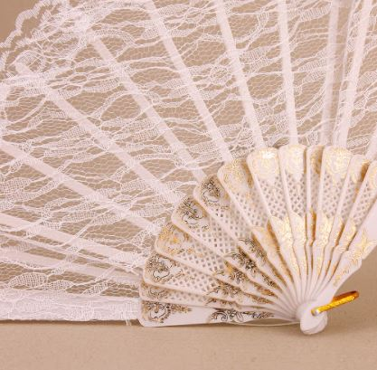 Whate lace fan day of the dead