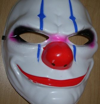 Evil clown mask