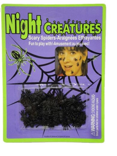 Night creatures - scary spiders
