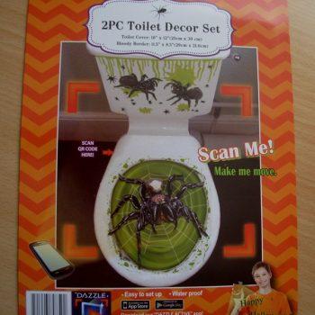 Toilet decor set - spider