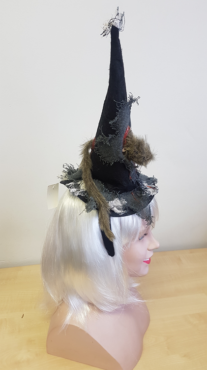 Witch hat with a rat