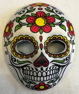 Day of the Dead mask - flowers