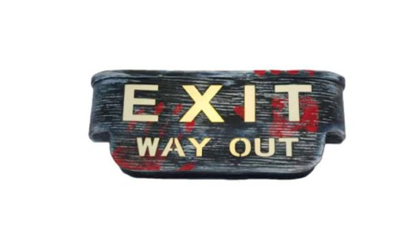 Exit sign animated