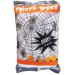 White spider web with spiders