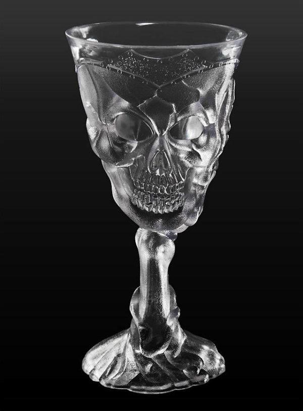 Clear skull goblet