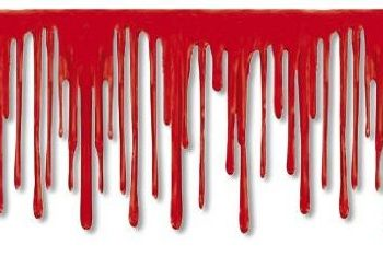 Dripping blood border
