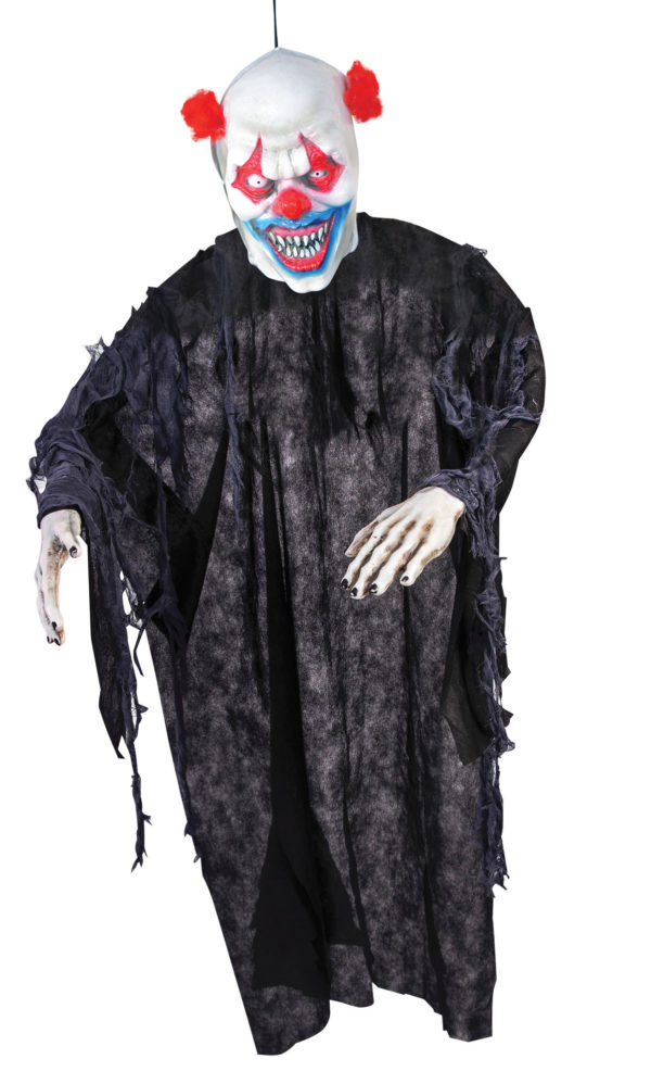 Creepy clown hanging prop