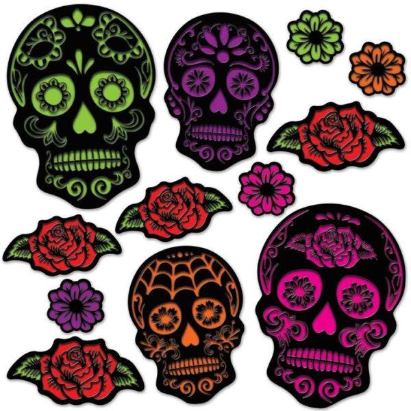 Sugar skull cut out decoration