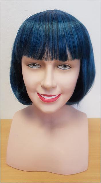 Blue black two tone bob wig