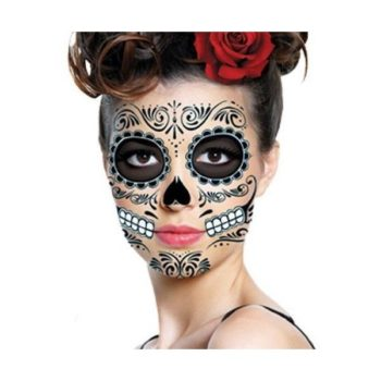 Face tattoo Day of the Dead