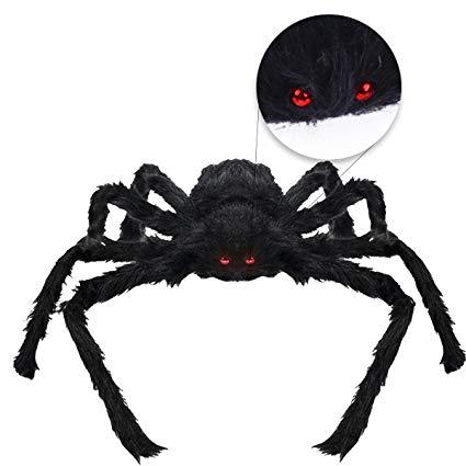 Hairy black spider - 75cm