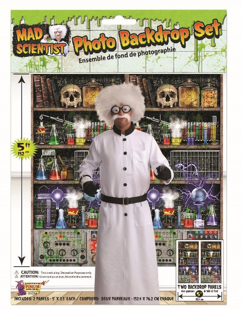 Mad Scientist backdrop