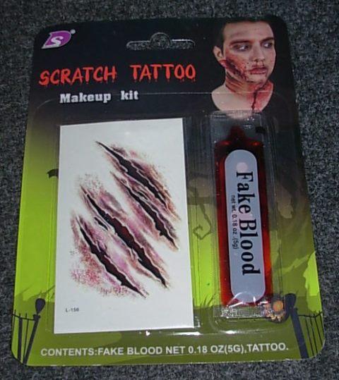 Fake tattoo scratches