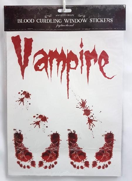 Bloody window sticker - Vampire