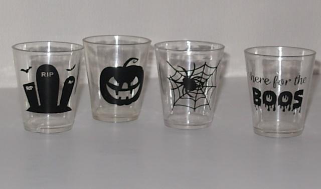 Plastic shot glasses Halloween