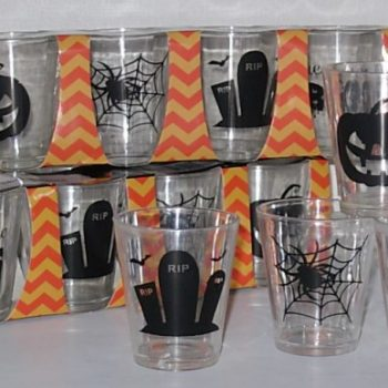 Shot glasses plastic Halloween