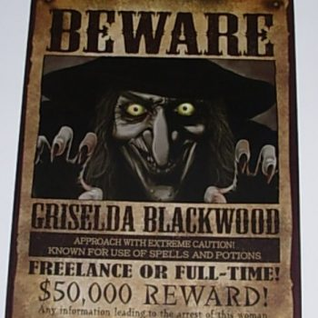 Poster - beware of the witch