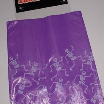 Purple plastic table cloth